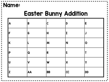 Bunny Math Facts