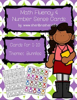 Bunny Math Fluency & Number Sense Cards | English | 1-10