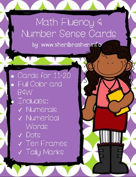 Bunny Math Fluency & Number Sense Cards | English | 11-20