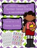 Bunny Math Fluency & Number Sense Cards | Spanish | 1-10
