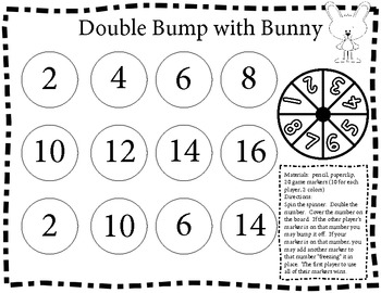 Bunny Math Games for Doubles and Counting to 120