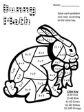 Bunny Math! Multiplication Color Key Sheet- All Facts