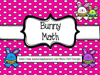 Bunny Math Packet