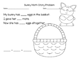 Bunny Math Story Problem