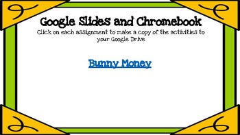 Bunny Money-A Digital Math Center (Compatible with Google Apps)