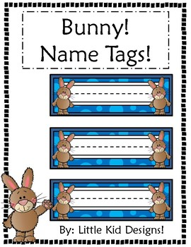 Bunny Name Tags - Printable Name Tags