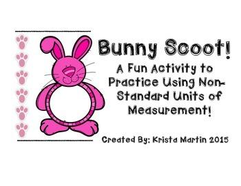 Bunny Non-Standard Units of Measurement Activity