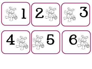 Bunny Number Cards 1-30