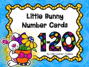 Number Cards 1-20 (Bunny themed)
