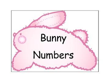 Bunny Number Cards/Calendar Cards