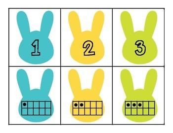 Bunny Number Matching for Preschool, Prek, and Kindergarten