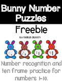 Bunny Number Puzzles Freebie