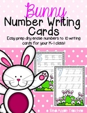 Bunny Number Writing to 10--Dry Erase Handwriting Cards fo