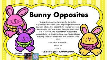 Bunny Opposites (FREEBIE)