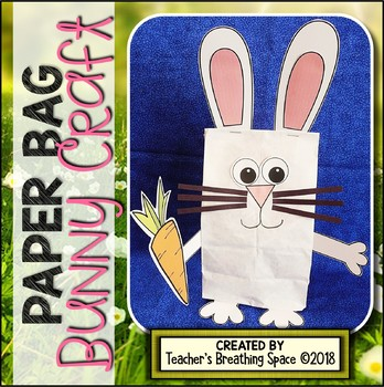 Bunny Paper Bag Craft --- Bunny Craft for Easter or Spring
