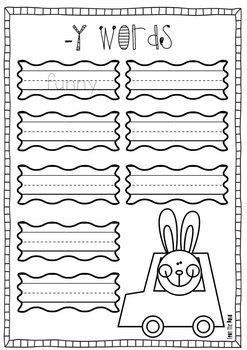Funny Bunny Paper Craft and Writing Prompt