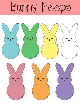 Bunny Peeps Clip Art