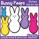 Bunny Peeps Clip Art Set 13 Piece - Easter - Counting - Confetti Graphics