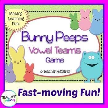 Long Vowels & Vowel Teams Game: Bunny Peeps
