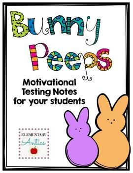Bunny Peeps Motivational Testing Note