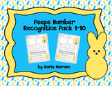 Bunny Peeps Number Recognition 1-10 Composing Numbers