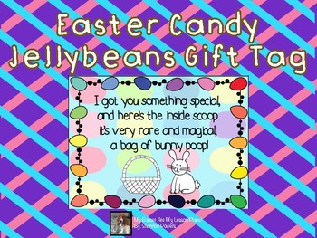 Bunny Poop: Easter Candy Jellybean Gift Tag