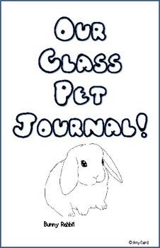 Bunny Rabbit Class Pet Journal