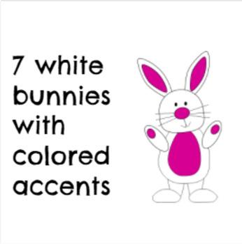 Bunny Rabbit Clipart ~ Rainbow colors ~ Easter Bunny ~ 2 versions ~