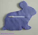 Bunny Rabbit Felt Sewing Craft Templates & Directions