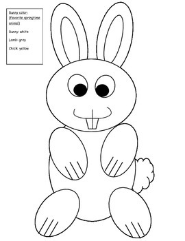 Bunny Rabbit Glyph Craft {Data Collecting}