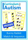 Bunny Rabbit Match Sequence Autism Special Education