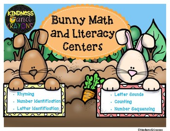 Bunny (Rabbit) Math and Literacy Center Activites