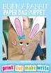 Bunny Rabbit Paper Bag Puppet + Partner Play
