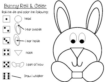 Bunny Rabbit Roll and Color