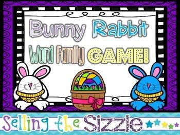 Bunny Rabbit Word Family Game!