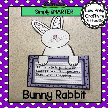 Bunny Rabbit Writing Cut and Paste Craftivity