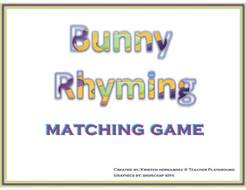 Bunny Rhyming Learning Center