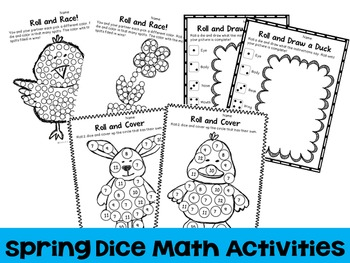 Bunny Roll : Spring Dice Math Activities {Freebie}