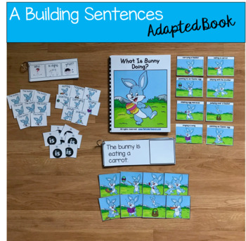 "Bunny Sentence Builder Book:  ""What Is Bunny Doing?"""
