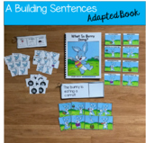 """Bunny Sentence Builder Book:  """"What Is Bunny Doing?"""""""
