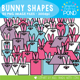 Bunny Shapes - Clipart for Easter Math!