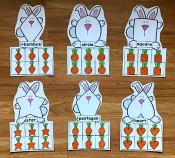 Bunny Shapes Sorting Mats