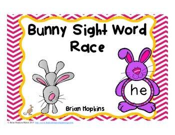 Bunny Sight Word Race