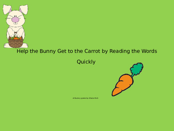 Bunny Sight Word and CCVC Word Fluency
