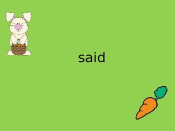 Bunny Sight Word and CCVC Word Fluency