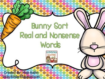 Bunny Sort Real and Nonsense Words