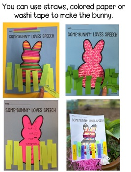 Speech Therapy Bunny Craftivity and Game {Easter Spring Art Unique Ideas}