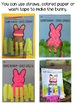 Speech Therapy Bunny Craftivity and Game {Easter Spring Ar