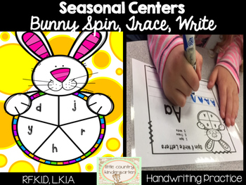 Bunny Spin, Trace, Write Literacy Center: Uppercase Lowerc