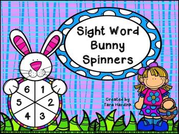 Bunny Spinner Sight Words